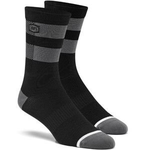 100% Flow Socken black/grey black/grey