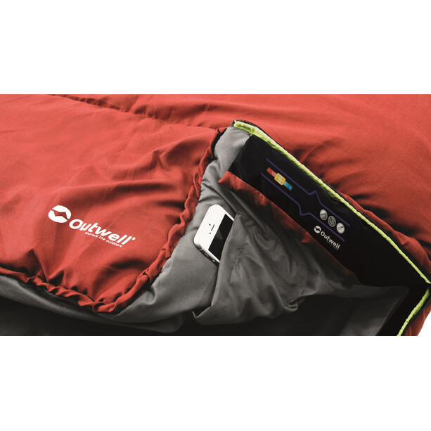 Outwell Campion Lux Schlafsack red