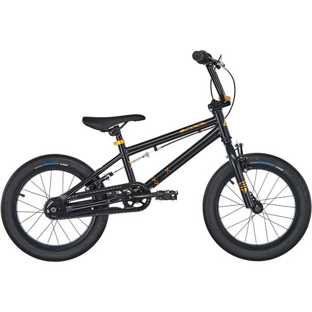 s'cool XtriX mini 16 Enfant, noir/Or