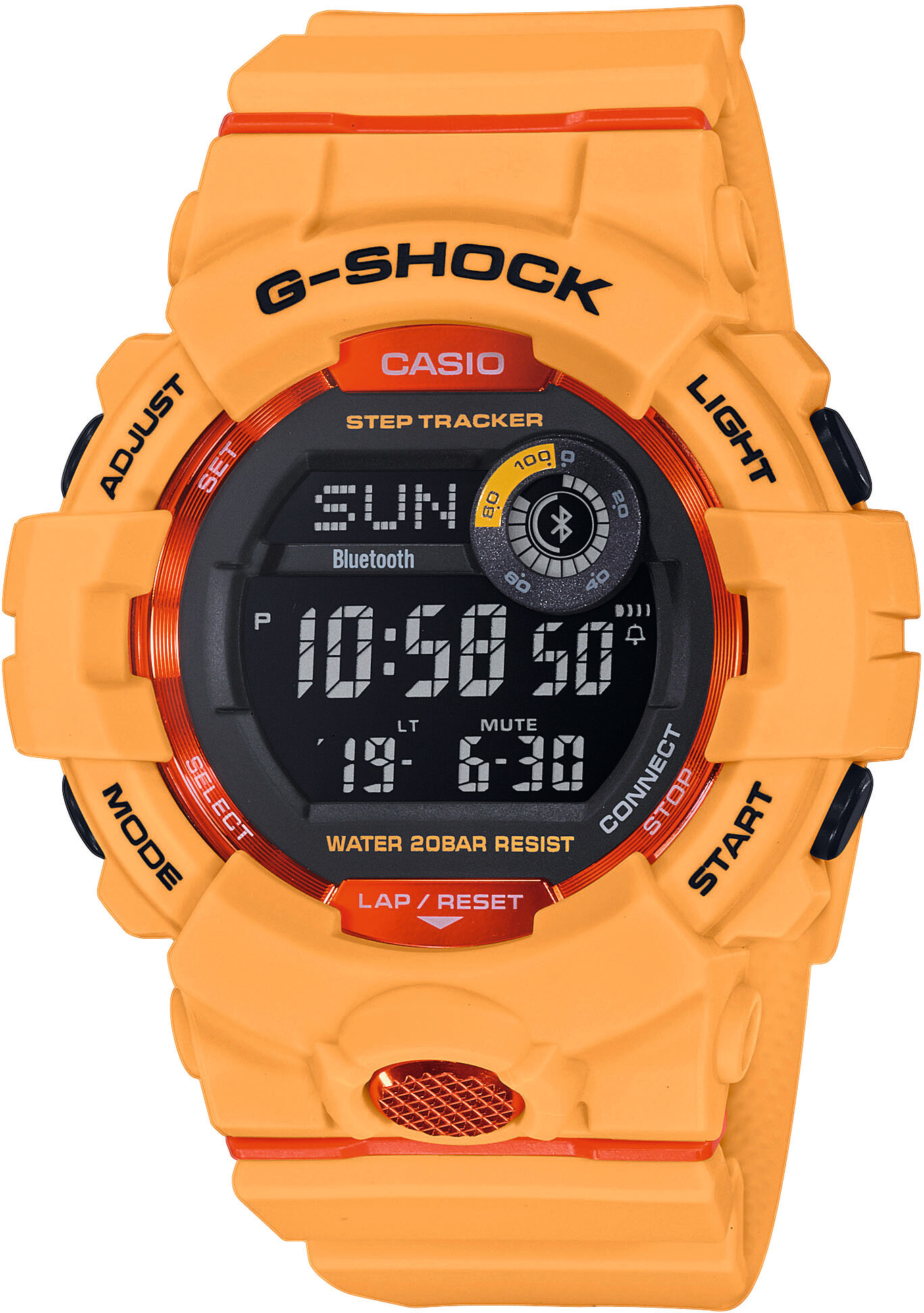 casio g shock gbd 800 4er uhr herren orange orange black. Black Bedroom Furniture Sets. Home Design Ideas