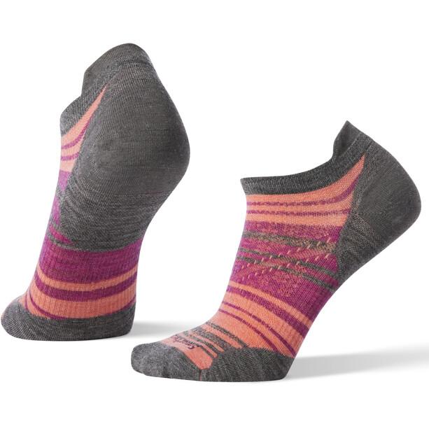 Smartwool PhD Run Ultra Light Striped Micro Socken Damen medium gray