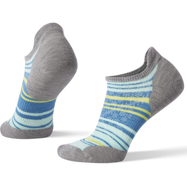 Smartwool PhD Run Light Elite Striped Micro Socken Damen light gray/mint