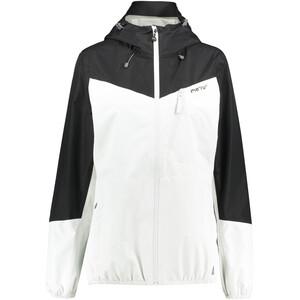 Meru Cromwell Veste imperméable 2,5 couches Femme, blanc/noir blanc/noir