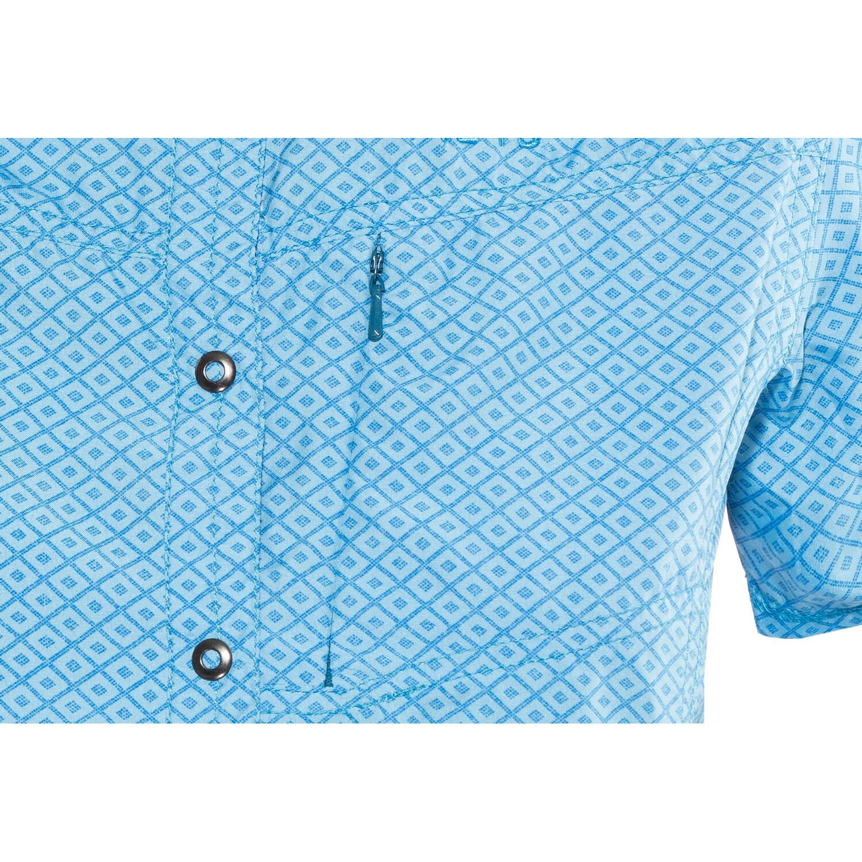 Meru Melissia Funktionelle Kurzarmbluse Damen ethereal blue