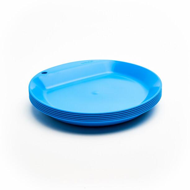 Wildo Camper Plate Flat Set Unicolor 6x light blue