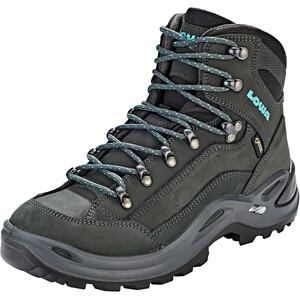 Lowa Renegade GTX Mid-Cut Schuhe Damen asphalt/turquoise asphalt/turquoise