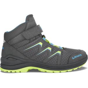 Lowa Maddox GTX Mid-Cut Schuhe Kinder grau/grün grau/grün