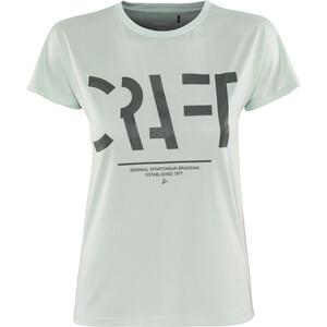 Craft Eaze Logo Kurzarm Mesh T-Shirt Damen plexi plexi