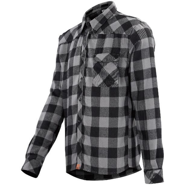 IXS Escapee Flannel Shirt Herren black-anthracite