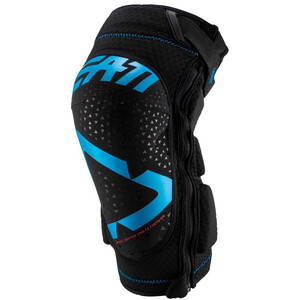 Leatt 3DF 5.0 Protège-genoux zippé, noir/bleu noir/bleu