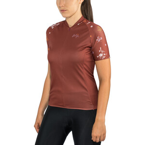 Maloja ViagravaM. Kurzarm Fahrradtrikot Damen maroon maroon