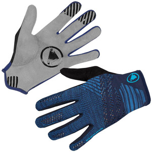 Endura SingleTrack Lite Strick Handschuhe Herren blau/grau blau/grau