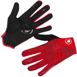 Endura SingleTrack Lite Strick Handschuhe Herren schwarz/rot schwarz/rot