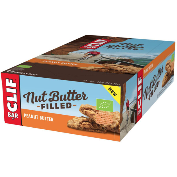 CLIF Bar Nut Butter Energy Riegel Box 12 x 50g Erdnussbutter