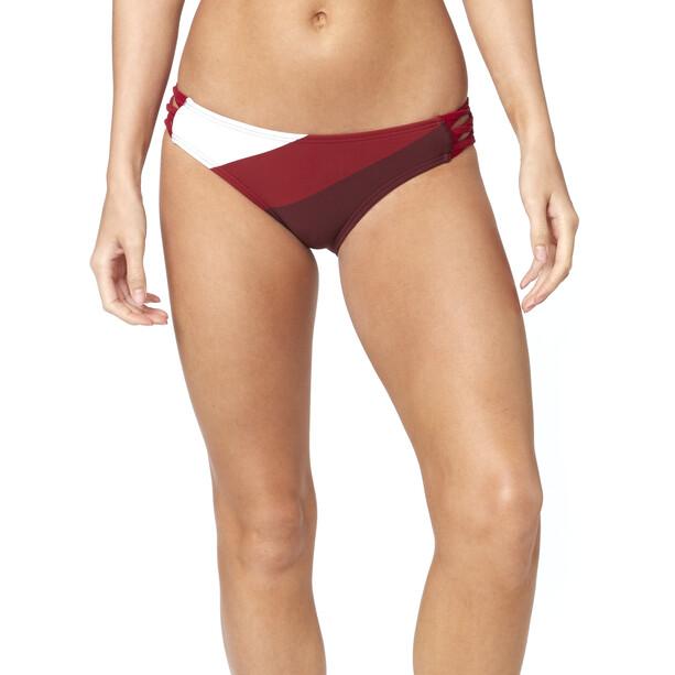 Fox Kingsport Lace Up Swim-Bottom Damen charcoal/graphite/red