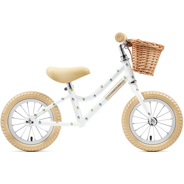 "Creme Mia Push-Bike 12"" Kinder white unicorn"