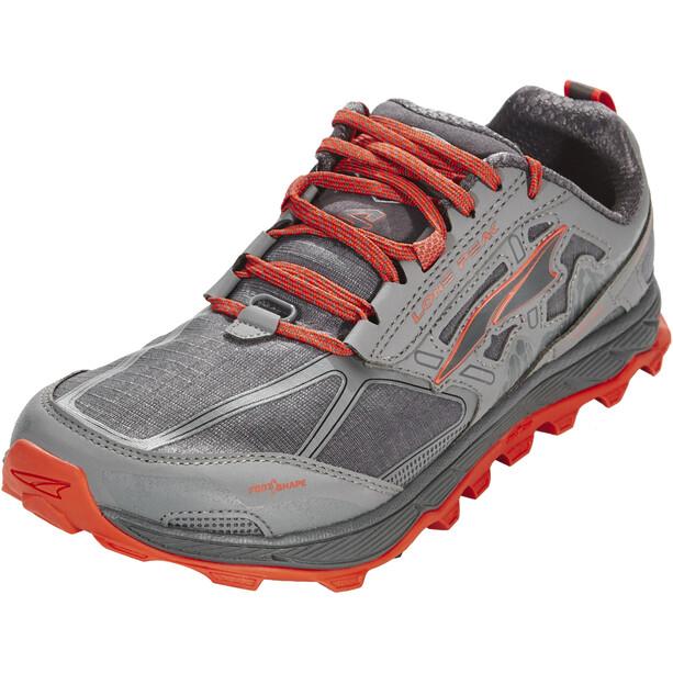 Altra Lone Peak 4 Running Shoes Herr gray/orange