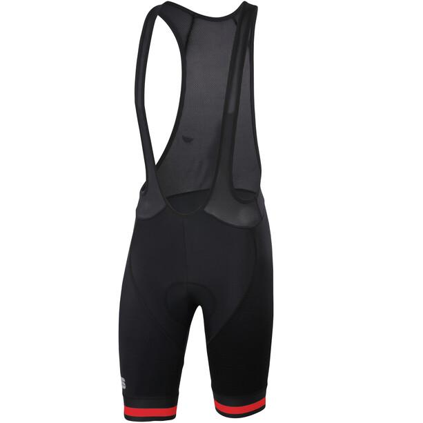 Sportful Bodyfit Team Classic Bib Shorts Herr black/red