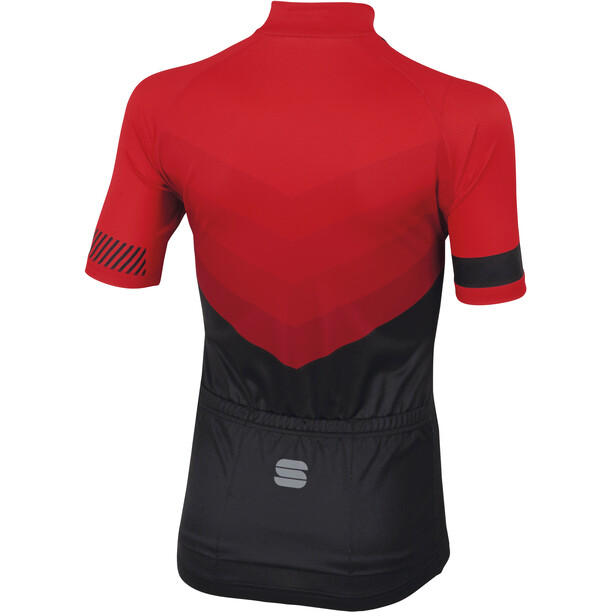 Sportful Chevron Trikot Kurzarm Kinder red/black