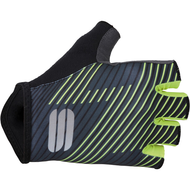 Sportful Bodyfit Team Faster Handschuhe black/dark grey/yellow fluo
