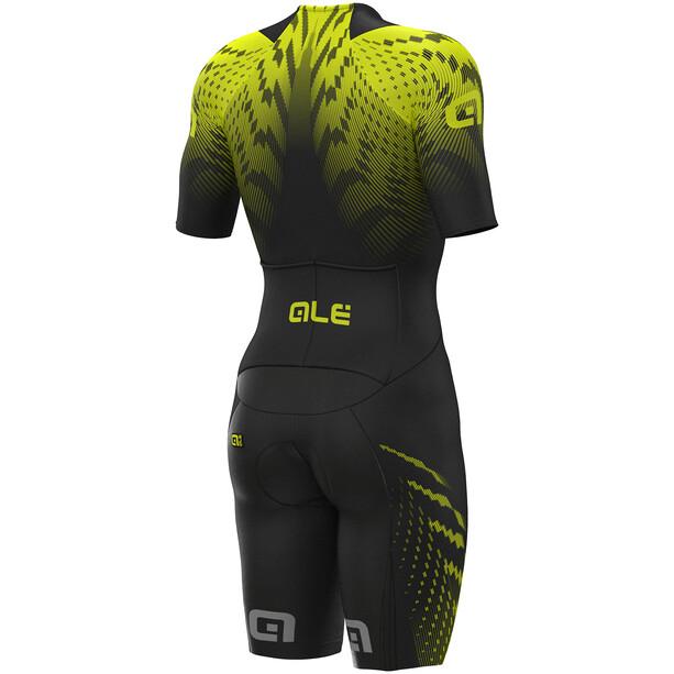 Alé Cycling R-EV1 Pro Race 2.0 SS Unitard Herr black-yellow flou