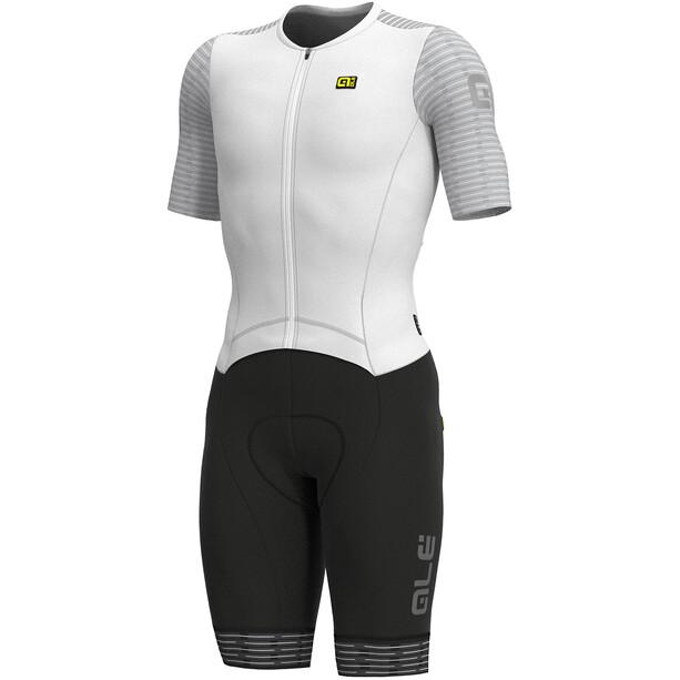 Alé Cycling R-EV1 Fuga Kortärmad Unitard Herr vit/svart