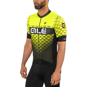 Alé Cycling PRS Hexa Kurzarm Trikot Herren black-yellow flou black-yellow flou
