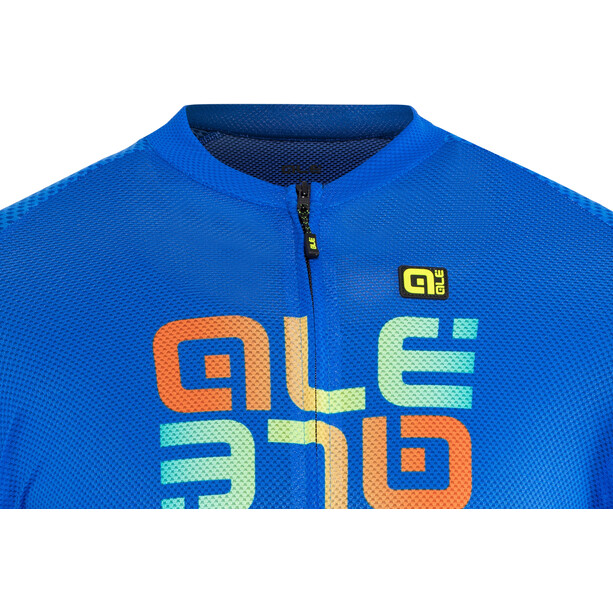 Alé Cycling Solid Mirror Kurzarm Trikot Herren blue