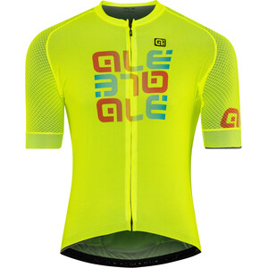 Alé Cycling Solid Mirror Kurzarm Trikot Herren flou yellow flou yellow