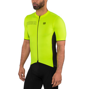 Alé Cycling Solid Color Block Kurzarm Trikot Herren flou yellow flou yellow