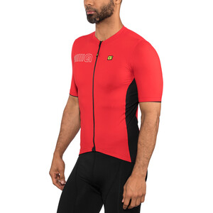 Alé Cycling Solid Color Block Kurzarm Trikot Herren red red