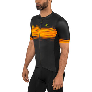 Alé Cycling Solid Start Kurzarm Trikot Herren black flou yellow black flou yellow