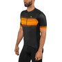 Alé Cycling Solid Start Kortärmad cykeltröja Herr black flou yellow