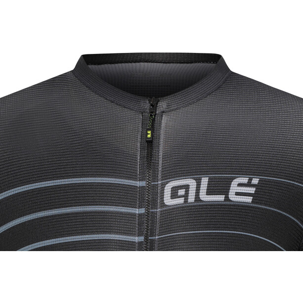 Alé Cycling Solid Ergo Kurzarm Trikot Herren black-grey