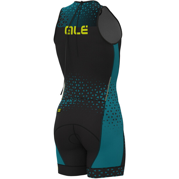Alé Cycling Rush Olympic Tri Sleeveless Unitard Short Herren black-ottanio
