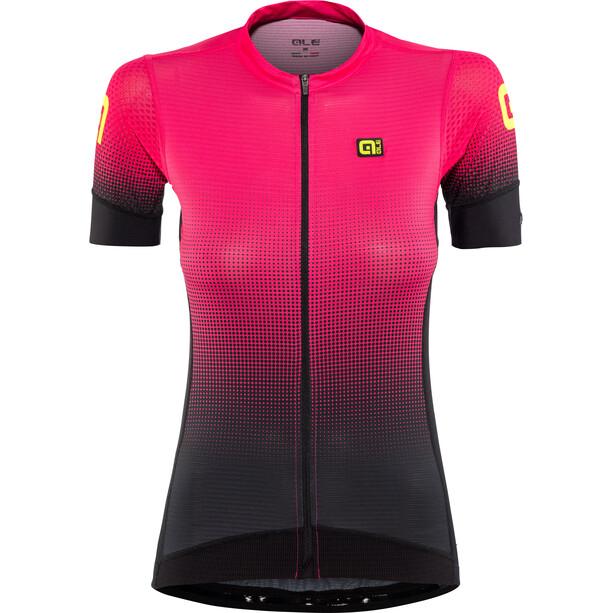 Alé Cycling PRS Dots Kurzarm Trikot Damen black-gerbera