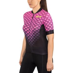 Alé Cycling Solid Hexa Kurzarm Trikot Damen black flou pink black flou pink