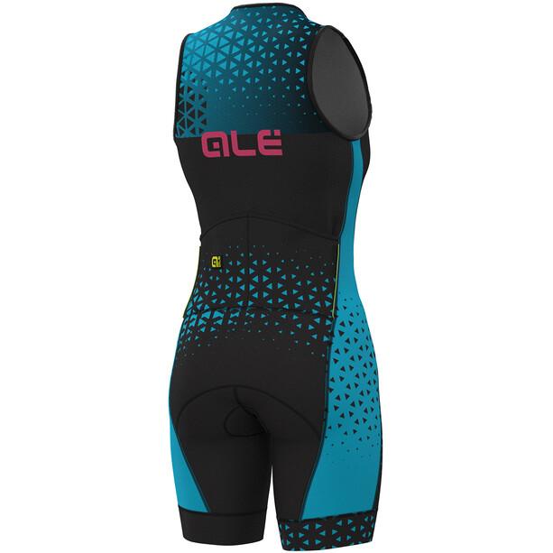 Alé Cycling Triathlon Rush Ärmelloser Anzug Lang Damen black-light blue
