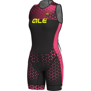 Alé Cycling Triathlon Rush Olympic Sleeveless Unitard Damen black flou pink black flou pink