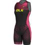Alé Cycling Triathlon Rush Olympic Sleeveless Unitard Damen black flou pink