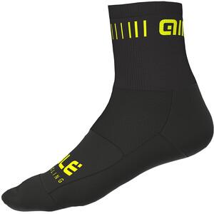 Alé Cycling Strada Socken 12cm black-flou yellow black-flou yellow