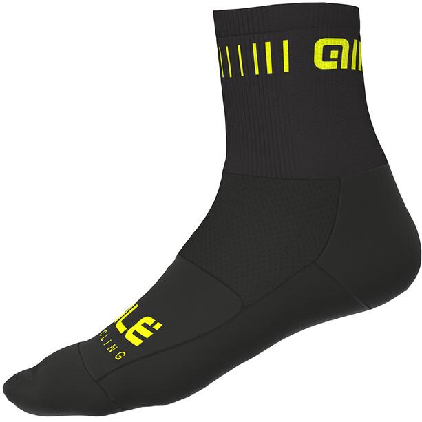 Alé Cycling Strada Socken 12cm black-flou yellow