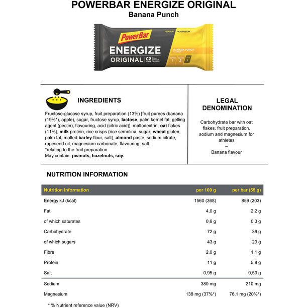 PowerBar Energize Promotion Aktion 3+1 For Free x 55g Multi