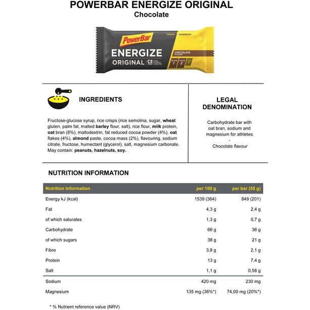 PowerBar Energize Promotion Aktion 3+1 For Free x 55g Multi