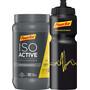 PowerBar Isoactive Flasche Vorteilspack Promotion Aktion Lemon 600g + 1 Fahrradflasche
