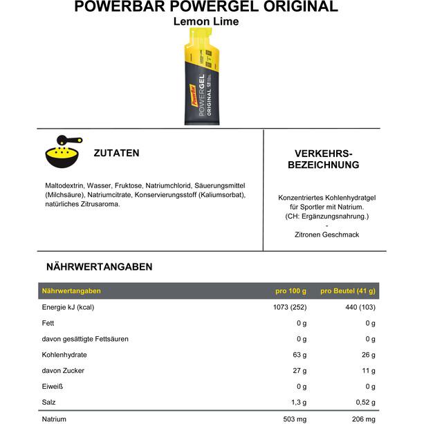 PowerBar PowerGel Original Box 24 x 41g Zitrone Limette