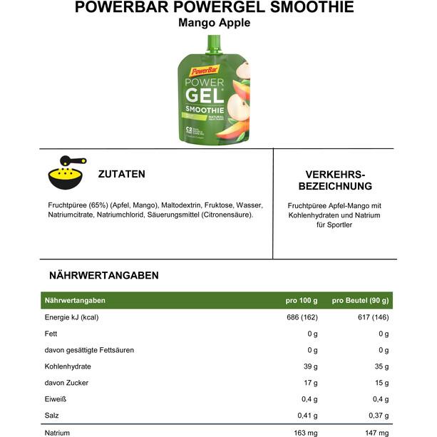 PowerBar PowerGel Smoothie Box 16x90g Mango Apfel