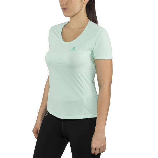 Salomon Agile Kurzarm T-Shirt Damen yucca