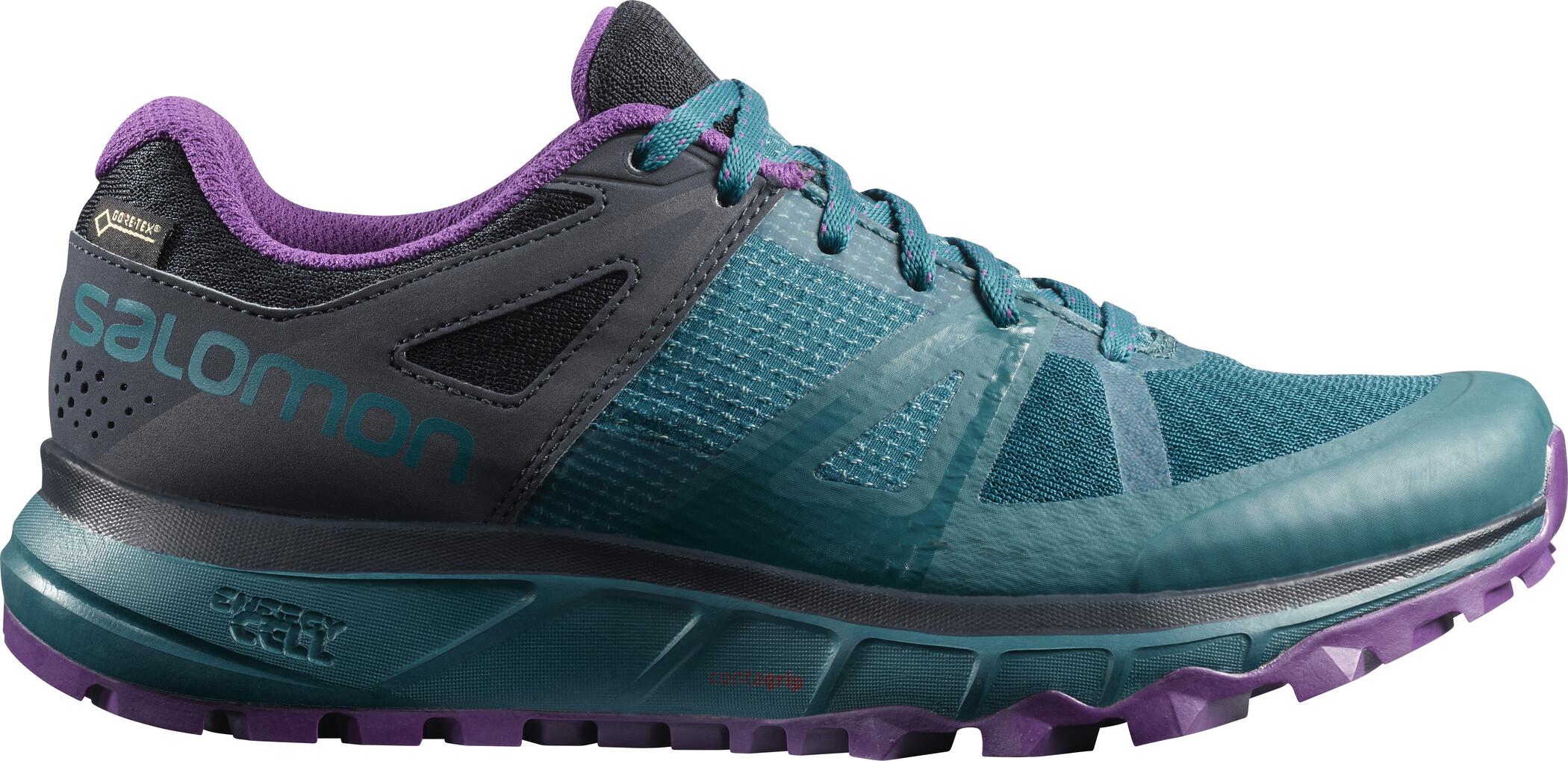 Salomon Trailster GTX Shoes Dam deep lagoonnavy blazerpurple magic