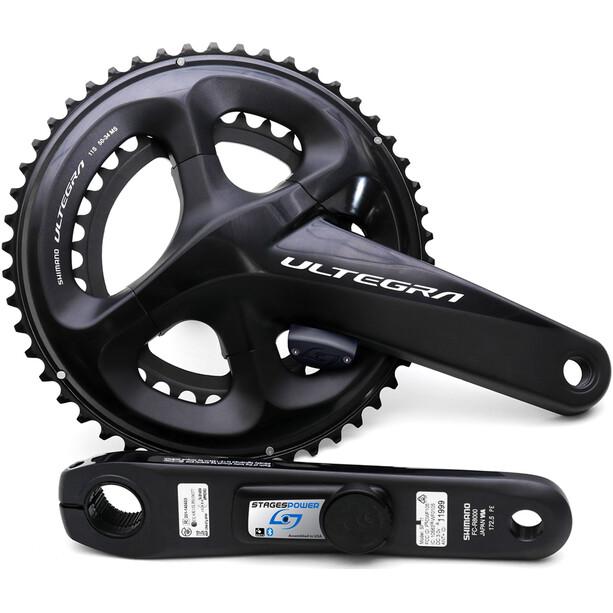 Stages Cycling Power LR Powermeter Kurbelset for Shimano Ultegra R8000 52/36 Teeth